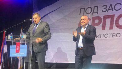 Milorad Dodik na predizbornom skupu u Zvorniku