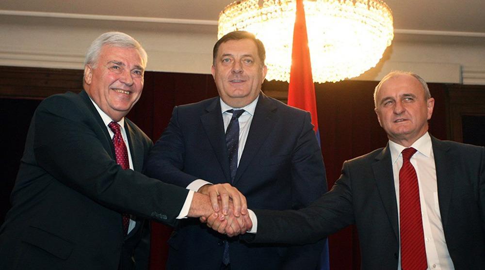Marko Pavić, Milorad Dodik i Petar Đokić