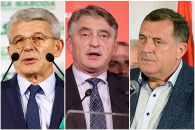 Šefik Džaferović, Željko Komšić i Milorad Dodik