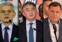 Šefik Džaferović, Željko Komšić, Milorad Dodik
