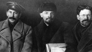 Josif Staljin, Vladimir Lenjin i Lav Trocki