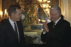 Džordž H. V. Buš i Boris Jeljcin