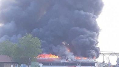 Veliki požar u Gradišci, gori fabrika namještaja
